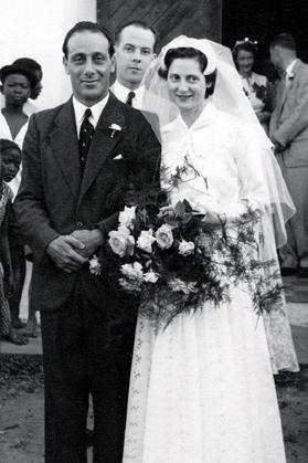 Professor and Mrs Gilles on their wedding day, February 2, 1955.