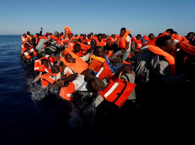 Irish naval ship rescues 712 people near Libya - defence forces