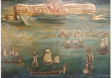 The recapture of a Venetian vessel by the Order's squadron under the command of Jean François Chevestre de Cintray. Photo: Palazzo Falson Collection