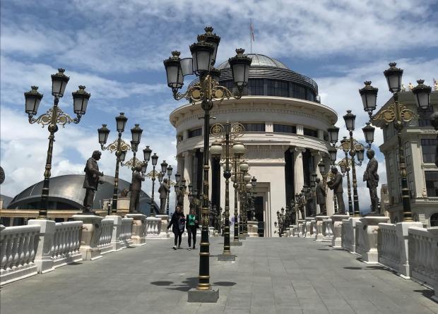 Art Bridge in Skopje. Photo: Rosanne Zammit