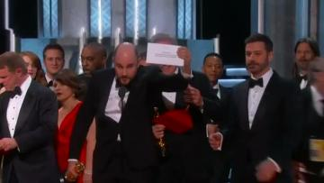 Watch: Major gaffe as wrong film named as best picture at Oscars