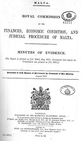 The 1912 Royal Commission report