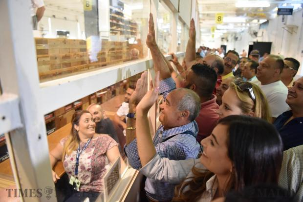 Candidate's and counting agents bang against the Perspex during the vote counting in a casual election held at the Naxxar counting hall on June 20. Photo: Mark Zammit Cordina