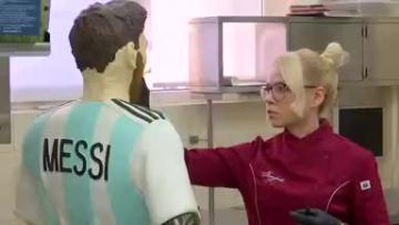 Messi gets chocolate birthday sculpture