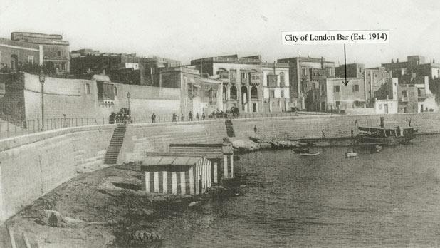 Balluta Bay - as it was 100 years ago.