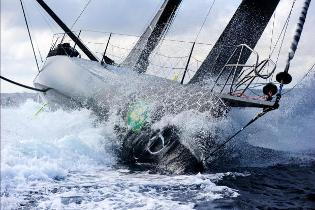Boats race during the Rolex Middle Sea Race on October 21. photo: Jonathan Borg
