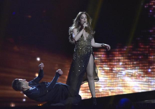 Maltese singer Ira Losco performs Walk on Water in the final dress rehearsal of the Eurovision Song Contest in Stockholm, Sweden, on May 13. Photo: Mark Zammit Cordina