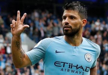 Watch: Aguero hits hat-trick as City crush Huddersfield