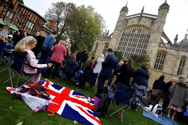 Guests wait for the royal wedding at Windsor Castle. Photo: Reuters