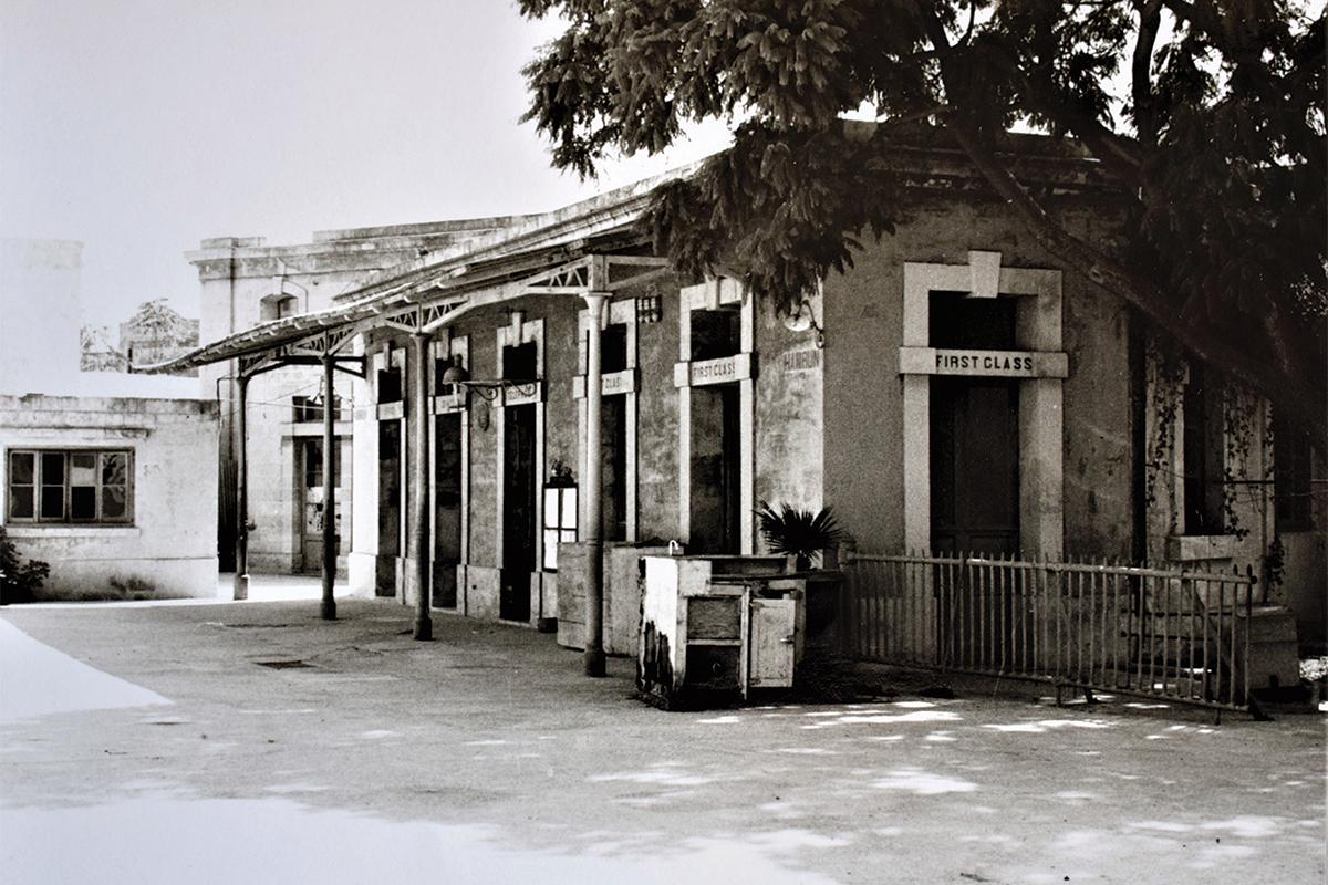 The Ħamrun Railway Station in 1967. All the railways stations were painted red.
