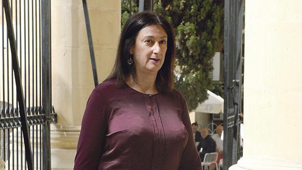 Ms Caruana Galizia was assassinated in mid-October.