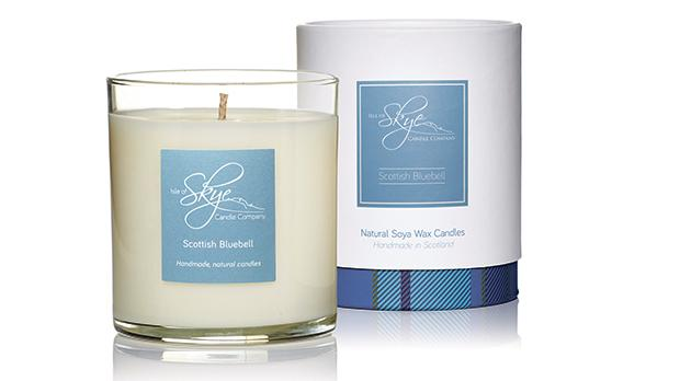 Scottish Bluebell soya wax candle.