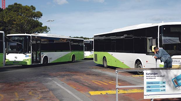 Passenger numbers continue to increase, with more than 22 million commuters using buses this year, representing a 16 per cent increase in the first six months of 2016, compared to last year. Photo: Darrin Zammit Lupi