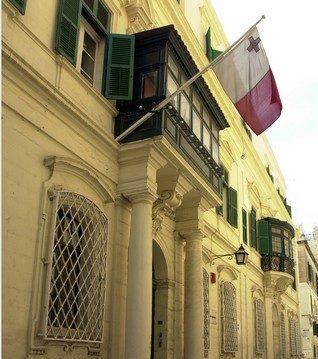The Ministry of Finance in Valletta.