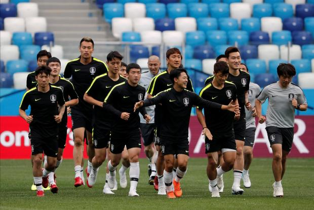 South Korean players in training: a tricky proposition for western scouts. Photo: Reuters