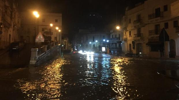 Flooding in Birkirkara. Photo: Paul Zahra