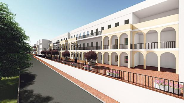 An artist's impression of the new extension to the St Vincent de Paul residential home for the elderly.