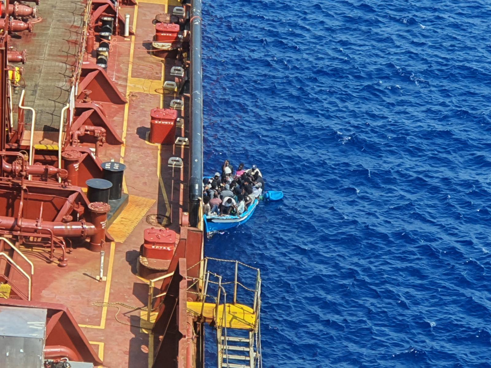 A new record has been sent for migrants held on board a commercial vessel. Photo: Maersk