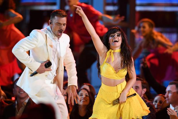 Puerto Rican singer Ricky Martin and US-Cuban singer-songwriter Camila Cabello.