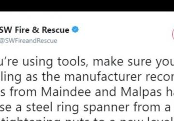 Man 'tightens' his own nuts with spanner