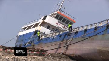 Watch: Works start to remove wreck from Fra Ben