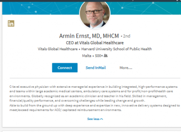 Dr Ernst's previous profile.