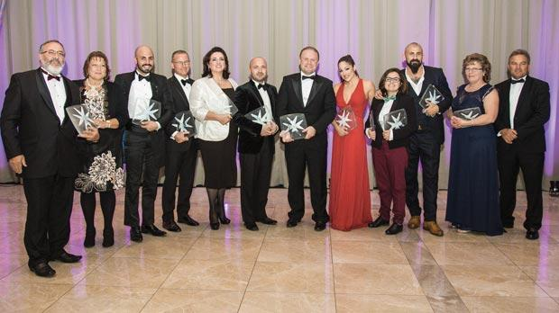 Mr and Mrs Licari (Parent Award), Darren Anthony Galea (Proposal Award), Winston J. Zahra (Radisson Hotels for Employer Award), Equal Opportunities Minister Helena Dalli (Politician Award), Neil Falzon (Humanitarian Award), Prime Minister Joseph Muscat (Politician Award), Ira Losco (Entertainer Award), Mina Tolu (Student Award), joint winner with her sister Louisa, Luke Dimech (Sports Person Award) and Mr and Mrs Sammut (Parent Award).