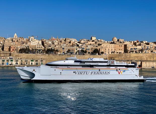 Catamaran MV Saint John Paul II makes it to Valletta
