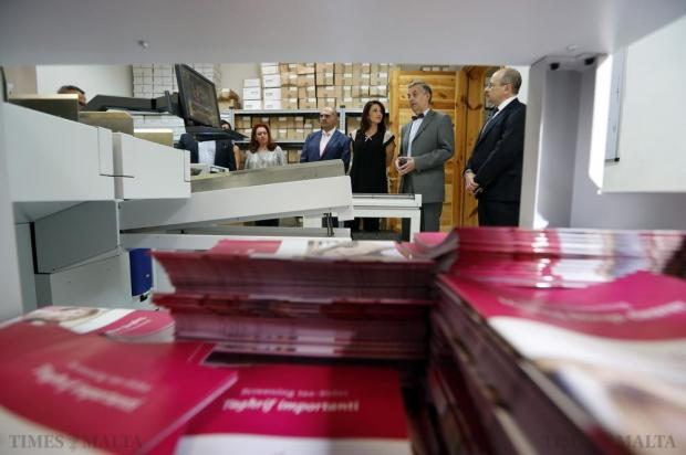 Michelle Muscat (centre), wife of the Prime Minister, who chairs the Marigold Foundation, visits the Breast Screening Centre in Valletta on October 28. She was shown around by the clinic's consultant advisor, Joe Psaila (2nd right), a surgeon who specialises in breast screening. October has in recent years become synonymous with breast cancer awareness. Photo: Darrin Zammit Lupi