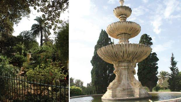 Argotti Gardens, Floriana. Photo: Matthew Mirabelli. Right: The Argotti's superb main fountain.