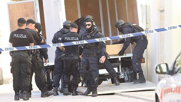 A police drug bust in Birkirkara. Photo: Mark Zammit Cordina