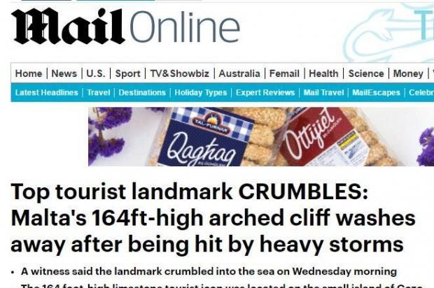 The Daily Mail's website also publicised the news.