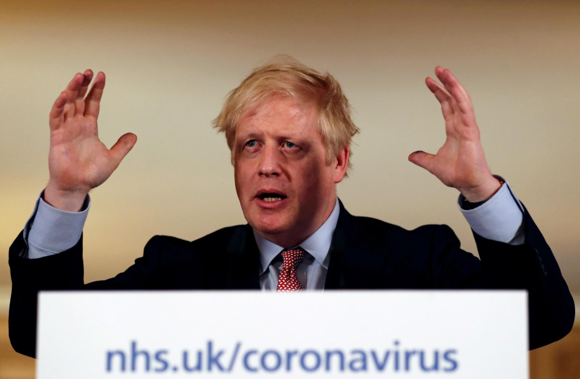 Boris Johnson has pushed the idea of fostering 'herd immunity'. Photo: AFP