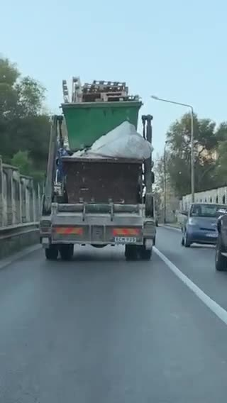 Watch: A 'load' of trouble waiting to happen   The unsecured load was swaying from side to side.