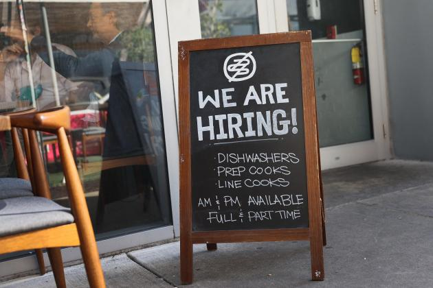 US private hiring surges in March: survey