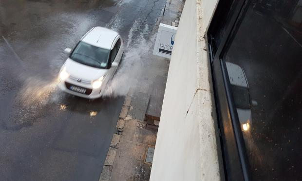 Flooding impacted many areas, including Ħamrun. Photo: Henry Spiteri