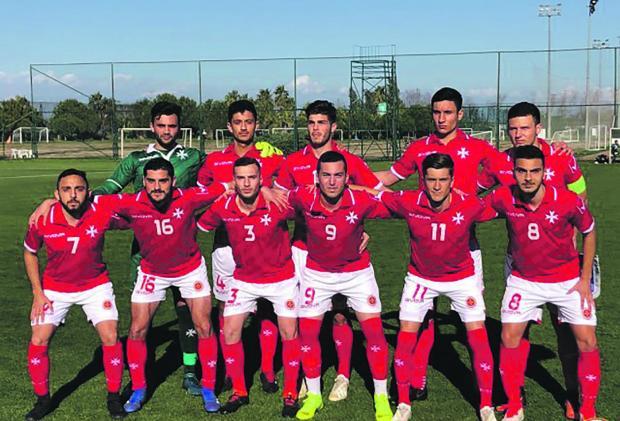The Malta U-21 selection that faced Kosovo. Photo: Malta FA
