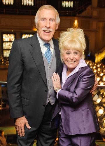 Sir Bruce Forsyth and Barbara Windsor in 2013. Photo: PA