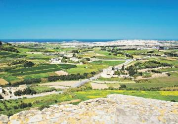 The view of Malta from the Mdina bastions. The nobles ensconced in the fortified city viewed the arrival of the Knights of St John with the cold indifference and suspicion in sharp contrast to the rest of the population.