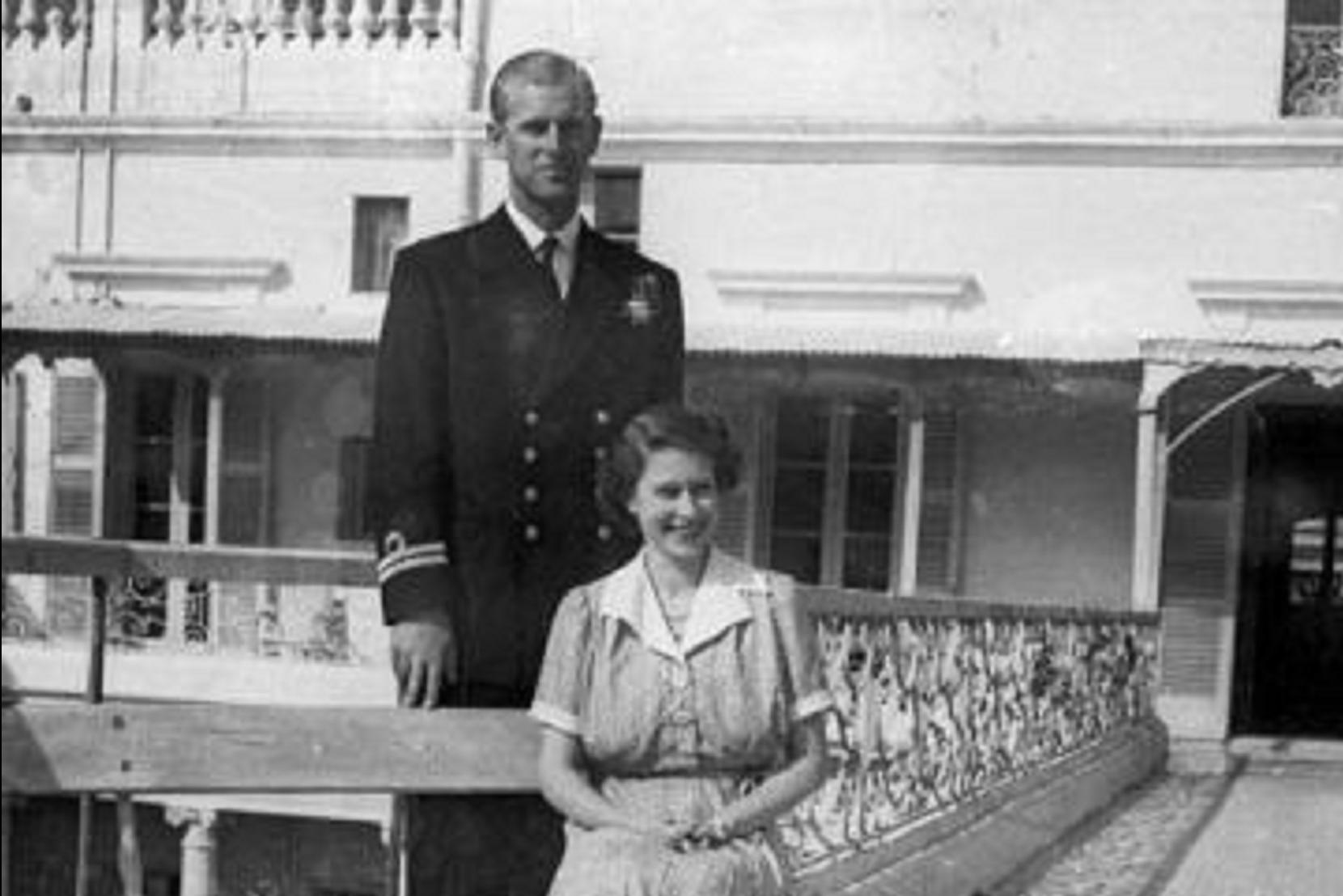 The royal couple photographed at Villa Guardamangia by Frank Attard. British media had wondered at the time whether Prince Philip was indicating a second baby on the way.