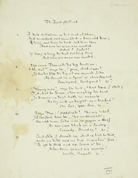 A page from The Root of the Boot manuscript.