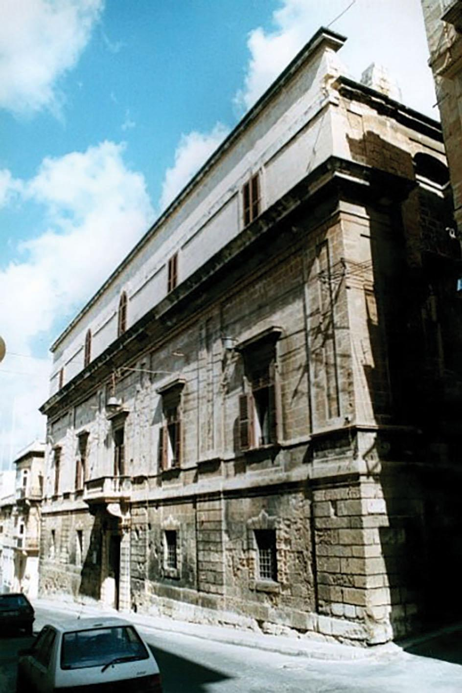 The façade of the Inquistors' Palace. Photo: Courtesy of Heritage Malta