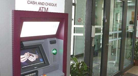 One of the new state-of-the-art ATMs installed by BoV.