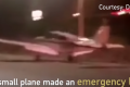 Small plane makes 'miracle' landing on road after engine failure