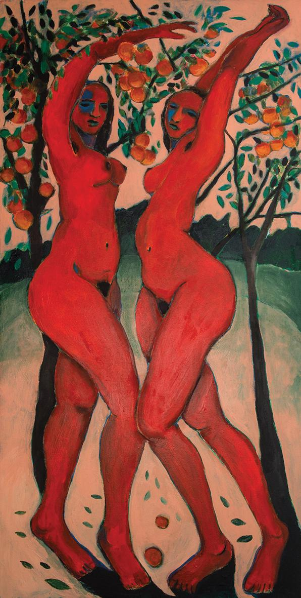 Two Women and Orange Trees, from the Primordial series.