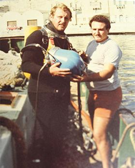 David Schembri (left) was chief diver of the Maltese contingent.