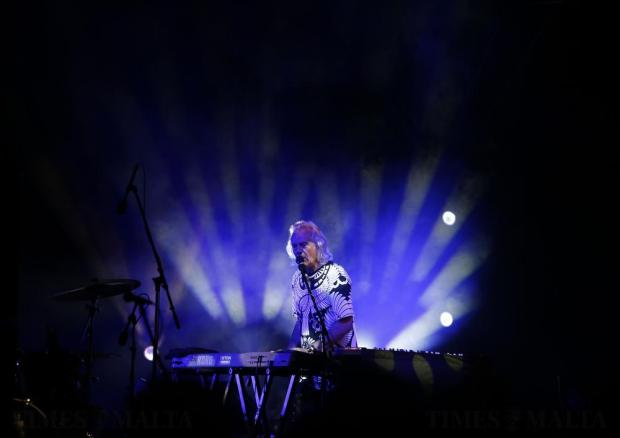 Keyboardist Phil Lanzon of British legendary rock band Uriah Heep performs during their concert in Valletta on July 29. Photo: Darrin Zammit Lupi