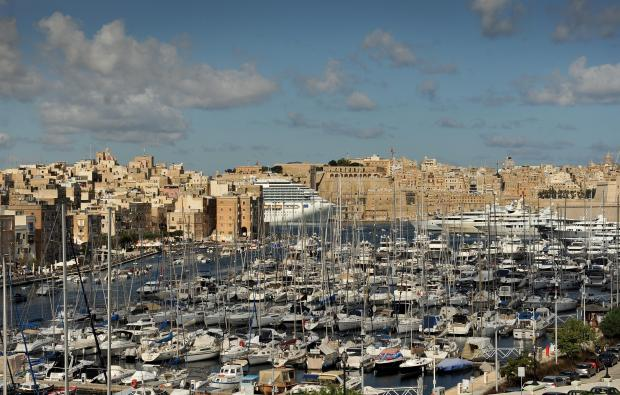 The Vittoriosa Marina and Grand Harbour on October 11. Photo: Chris Sant Fournier