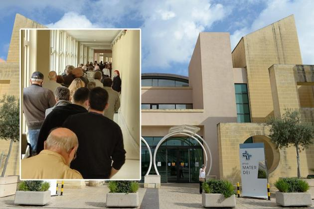Queues at Mater Dei as vulnerable rush to get vaccine