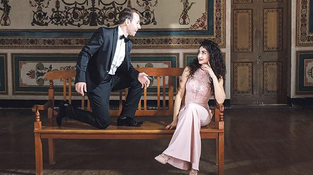 "Singer Nico Darmanin, who is ""in love with love"", is seen here with Jasmine Abela."
